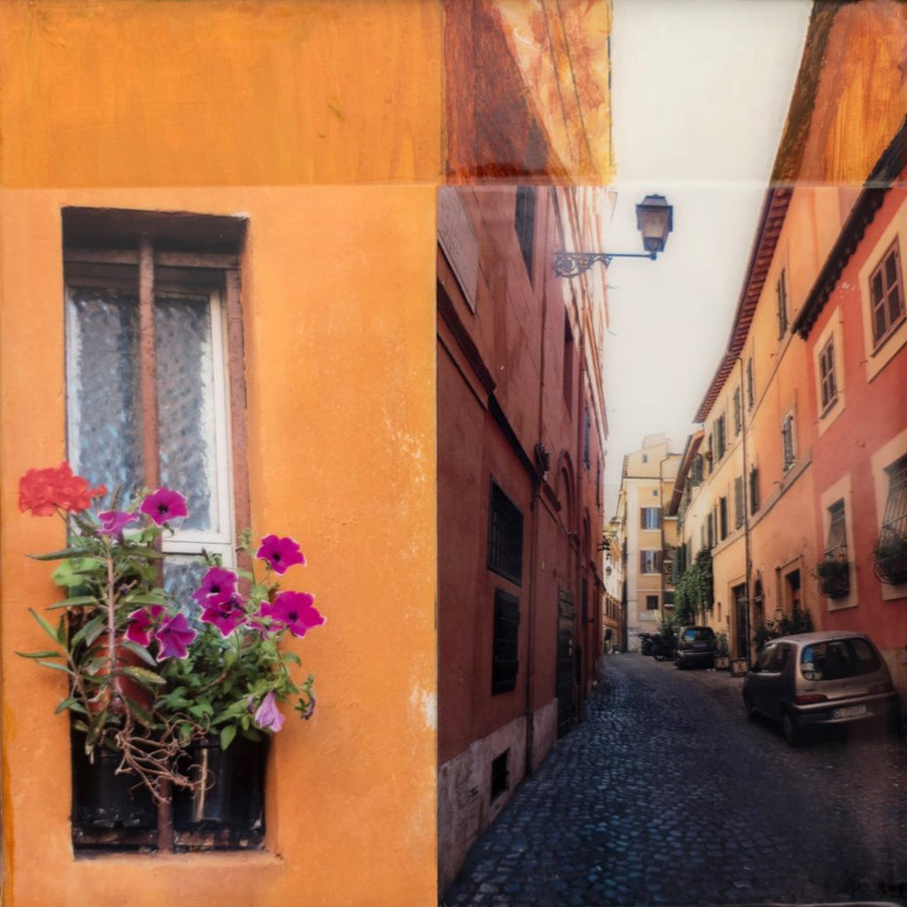 mary ann varley ~ Flower Box, Rome (sold)