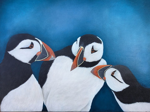 "susan reiter ~ ""Did you hear . . . ?"" (puffins)"