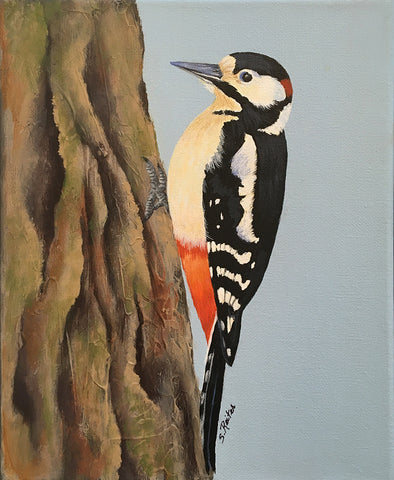 susan reiter ~ All Tapped Out (woodpecker)