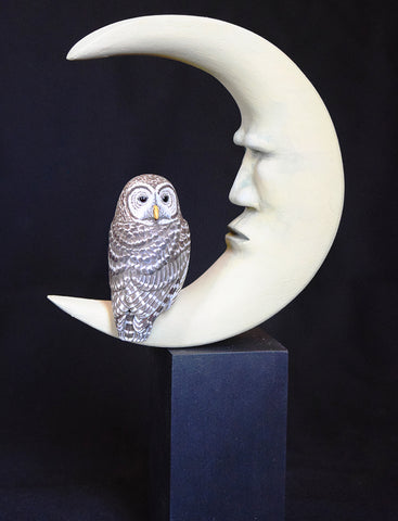 ted stewart ~ Moonage Daydream - Barred Owl