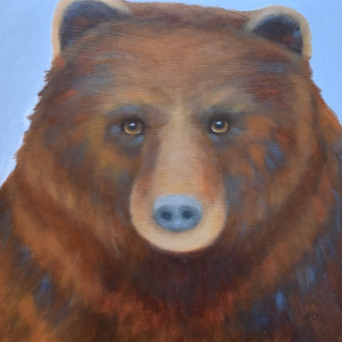 anita utas ~ The Star Gazer (brown bear - small)