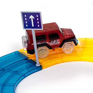 Magwisdom (Tiles) 105 Pieces - Car Track