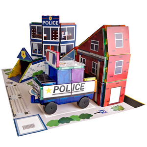 Magnetic Tiles Police Station