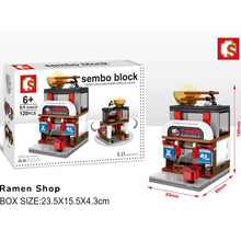 Load image into Gallery viewer, Sembo Block: Ramen, Swaroski, Adidas, Beer Set
