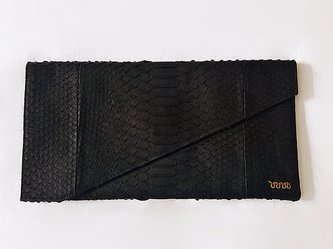 Real Python Snake Skin Clutch Bag Purse **CLUTCH ON**