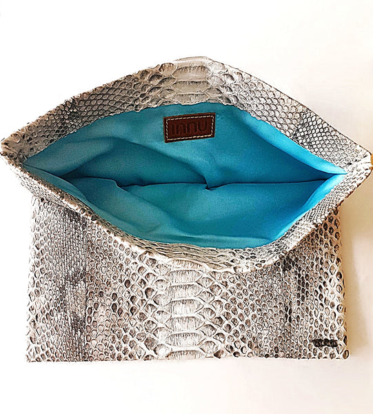 Real Python Snake Skin Clutch Bag Purse **HOLD ON**