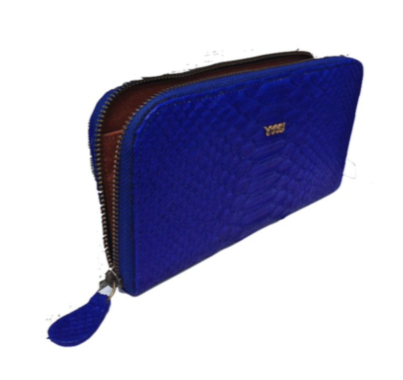 Snakeskin Melville Purse - Electric Blue