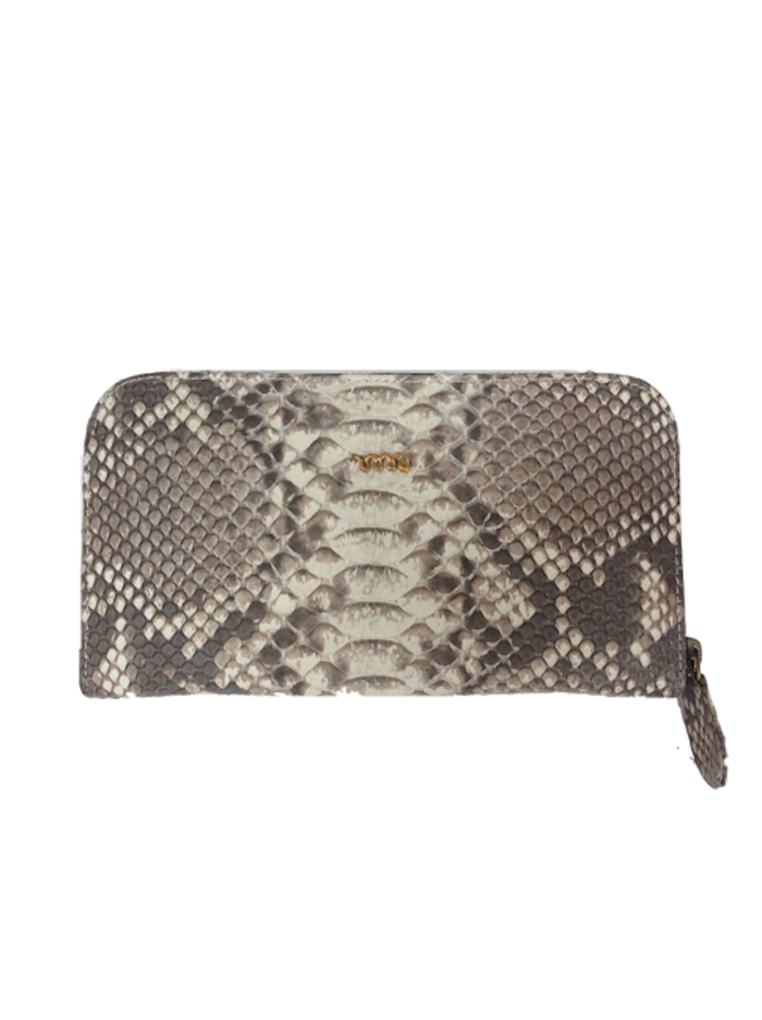 Snakeskin Melville Purse - Natural