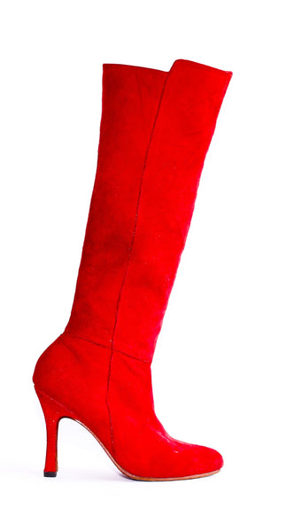 Suede Knee High, High Heel Boots **Star Strut**