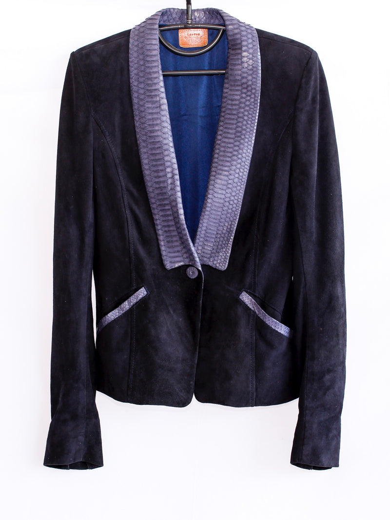Suede and Snakeskin Jacket **TRIBAL ROCK AT WORK**