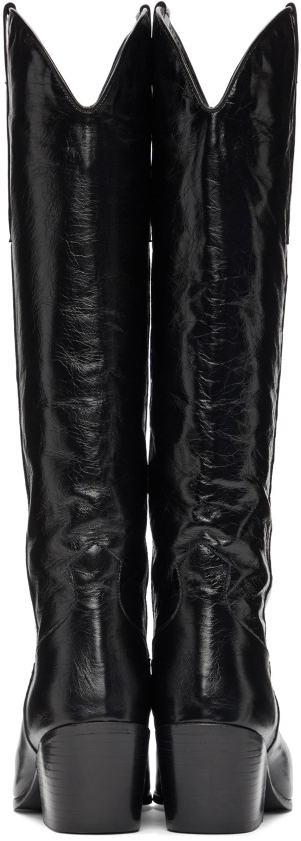 'Willa' Creased Leather Boot