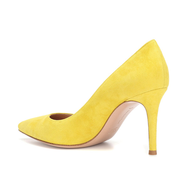 'Gianvito' Yellow Suede Pump (5085415276684)
