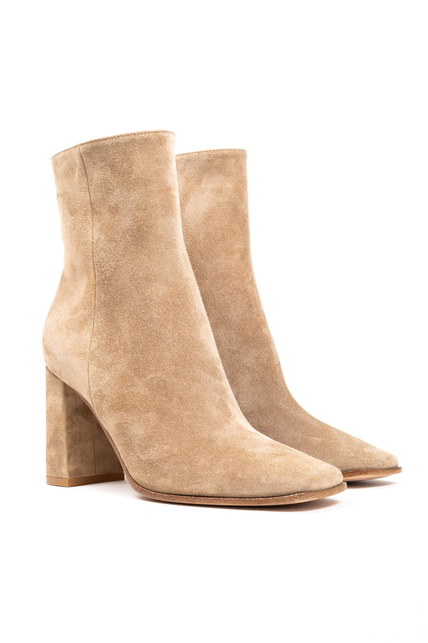 Squared Toe Suede Boot