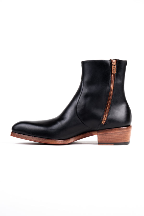 Leather Double Zip Boot