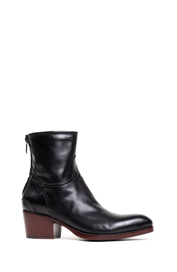 Black Back Zipper Boot (5192050344076)