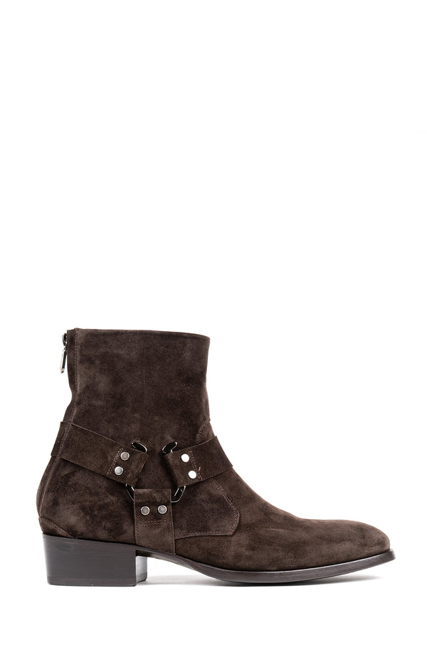Suede 'Moto' Boot
