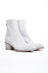 Perforated Leather Boot