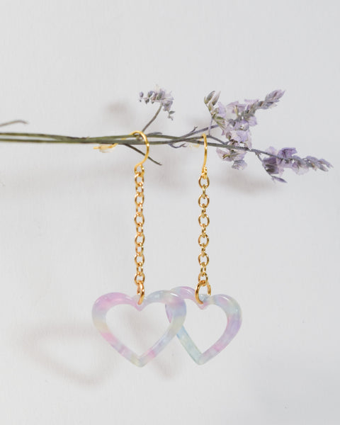 Heart Chain Earrings