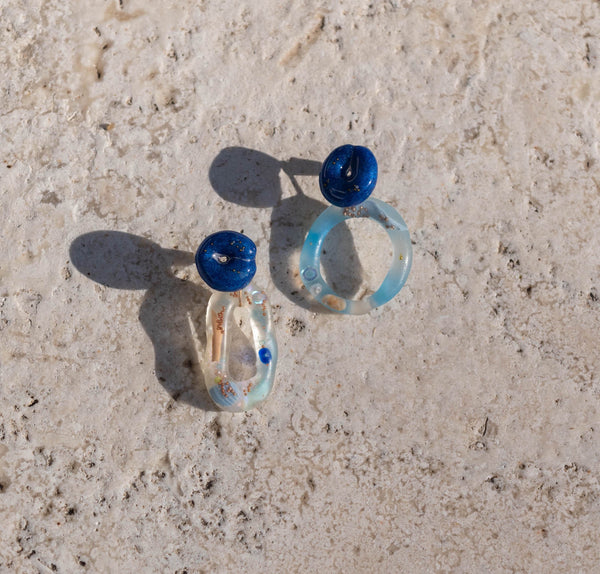 Blue Dip Earrings