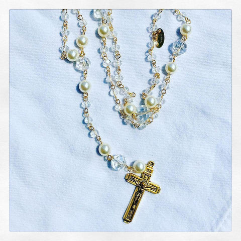 Crystal and Pearl Rosary