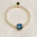 Aquamarine 12MM Heaven Bracelet Gold Setting
