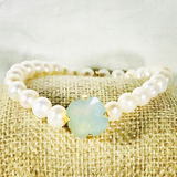 Chrysolite Opal 12MM Heaven Bracelet Gold Setting