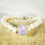 Rose Water Opal 12MM Heaven Bracelet Gold Setting