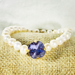 Tanzanite 12MM Heaven Bracelet Gold Setting