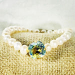 Light Azore Shimmer 12MM Heaven Bracelet Gold Setting