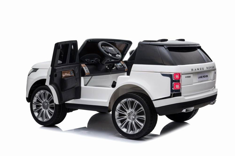 12V Land Rover Electric Ride on Car with Remote Control for Kids, 2 Seaters, MP3, Bluetooth, Leather Seats, Openable Doors, LED Lights, Four Wheels Spring Suspension