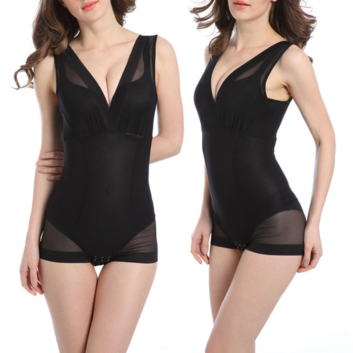 Women Full Body Seamless Shapewear Bodysuit Firm Control  Soft Breathable Corset Shaping Romper - FlexFitWear2.0