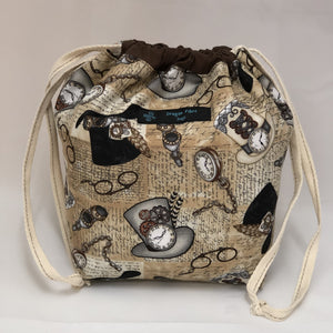 Steampunk Small Sack - Handcrafted