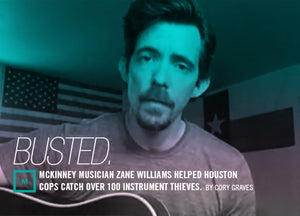 McKinney Musician Zane Williams Helped Houston Cops Catch Over 100 Instrument Thieves