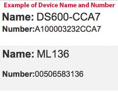 Example Device Numbers