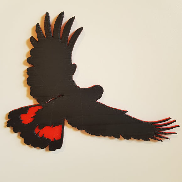Red-Tailed Black Cockatoo Decal