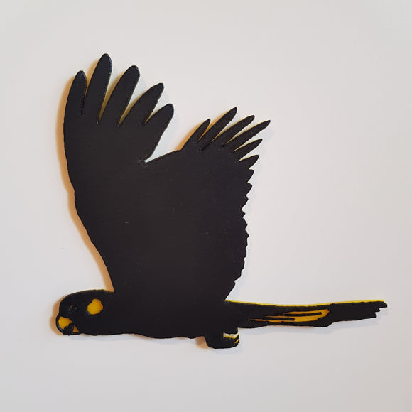 Yellow-Tailed Black Cockatoo Decal