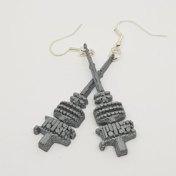 Black Mountain Tower Earrings