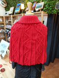 100% Australian Wool Red Poncho
