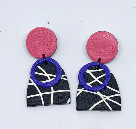 Cosmos earrings #2 (141001L)