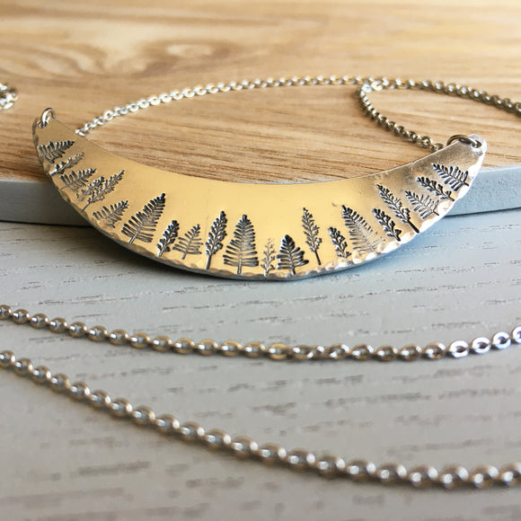 Hand Stamped Forest Necklace