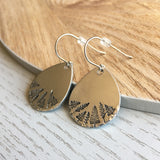 Forest Stamped Drop Earrings