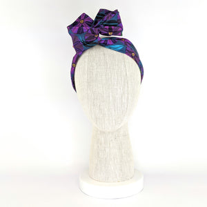 Wire Wrap Headband - Purple Native Flowers