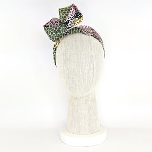 Wire Wrap Headband - Colourful Pod Flowers