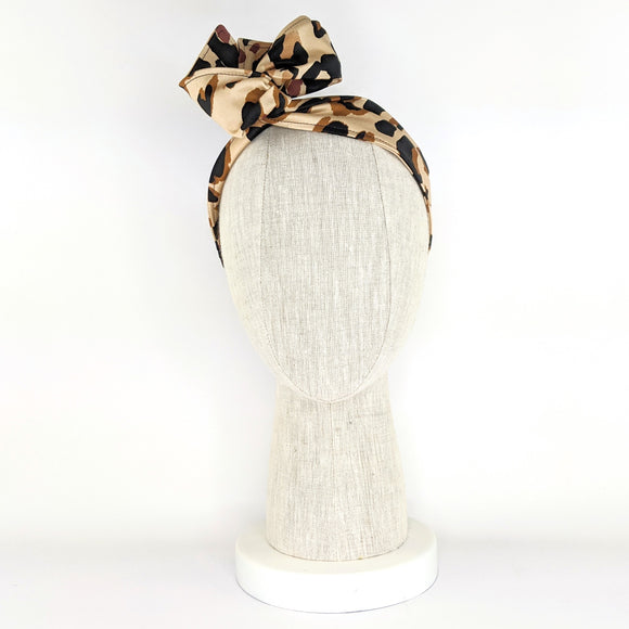 Wire Wrap Headband - Leopard Print