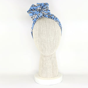 Wire Wrap Headband - Blue Cherry Blossoms