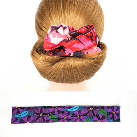 Wire Bun Roll - Purple Native Flowers