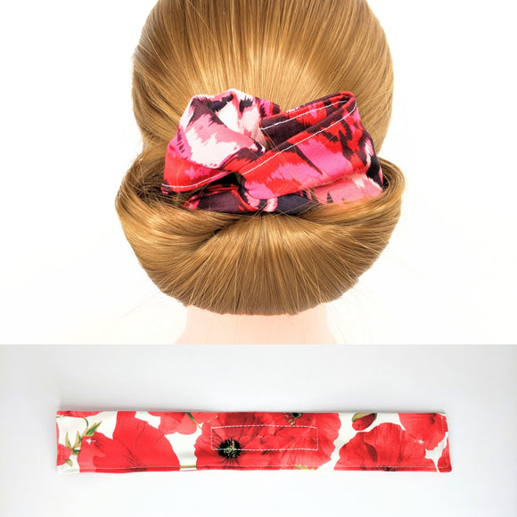Wire Bun Roll - Poppies