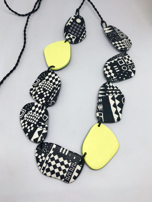 Paradise necklace-citrus lemon 141005E