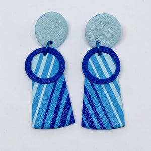 Beach Towel earrings #1(141001D)