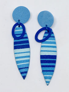 Beach Towel earrings #2 (141001C)